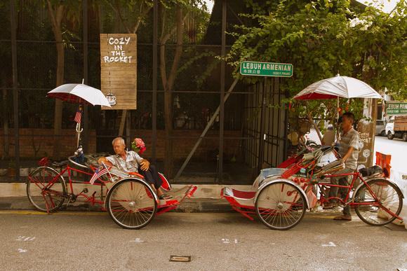 Popular spot for trishaw drivers